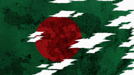 lacerate: Bangladesh Flag lacerate texture