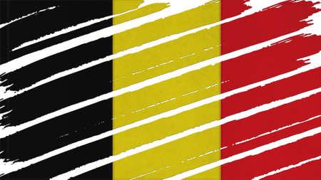 spangled: Belgium Flag tinted texture