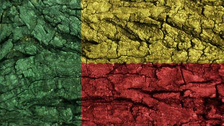 spangled: Benin Flag rough texture