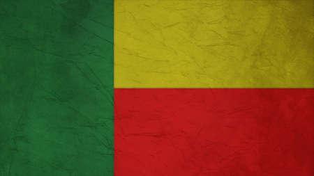 spangled: Benin Flag Crepe Paper texture Stock Photo
