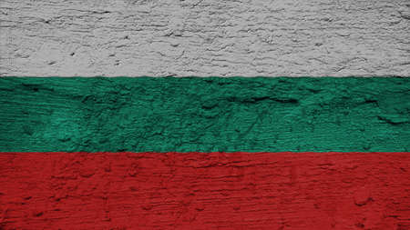 spangled: Bulgaria Flag on the wall texture