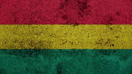 bandera de bolivia: Bandera de Bolivia en la vieja textura de la pared