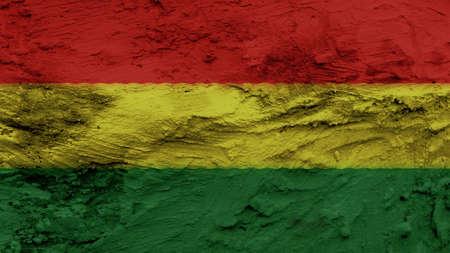 bandera bolivia: Pintura de texturas Bolivia Flag