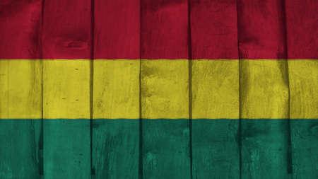 bandera de bolivia: Bandera de Bolivia en la textura de la madera