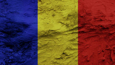 chad flag: Chad Flag painting texture
