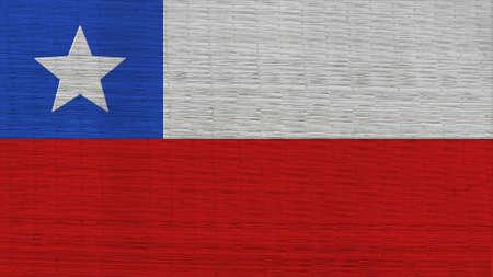bandera de chile: Chile Bandera japonesa Esteras textura