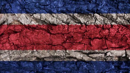 rough: Costa Rica Flag rough texture