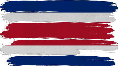 spangled: Costa Rica Flag tinted horizontal texture Stock Photo