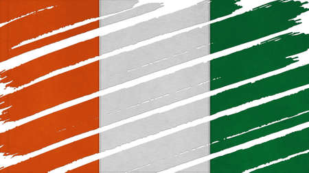 tinted: Cote dIvoire Flag tinted texture Stock Photo