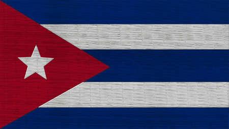 bandera cuba: Cuba Bandera japonesa Esteras textura