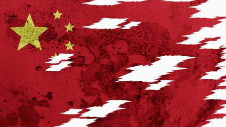 lacerate: China Flag lacerate texture