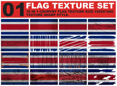 spangled: Costa Rica Flag texture set resolution 1920x1080 pixel 16 in 1