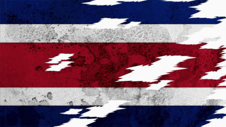 lacerate: Costa Rica Flag lacerate texture Stock Photo