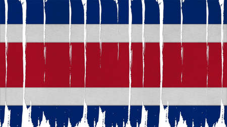 spangled: Costa Rica Flag tinted vertical texture Stock Photo