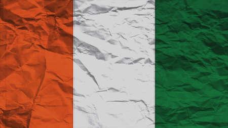 spangled: Cote dIvoire Flag paper texture Stock Photo