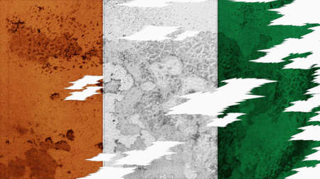 spangled: Cote dIvoire Flag lacerate texture