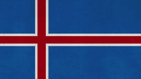 clime: iceland flag texture with seam Stock Photo