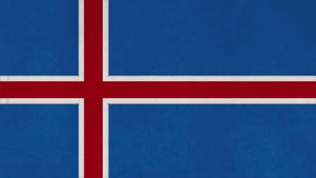 flag of iceland: islandia textura, marca con la costura