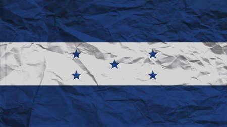 bandera honduras: Honduras textura de papel, marca con costura