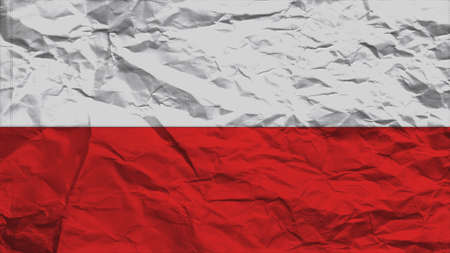 clime: poland flag paper texture with seam Stock Photo