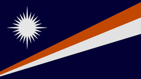 clime: Marshall Islands flag texture Stock Photo