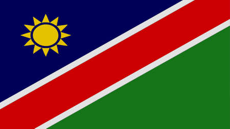 clime: Namibia flag texture Stock Photo