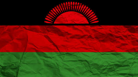 malawi flag: Malawi flag paper texture with seam Stock Photo