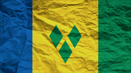 grenadines: st vincent & the grenadines flag paper texture with seam