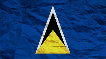 overlays: st lucia flag paper texture with seam