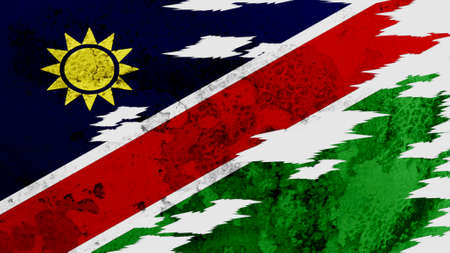 lacerate: Namibia flag lacerate texture