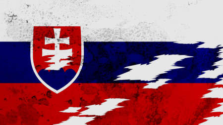 lacerate: Slovakia flag lacerate texture