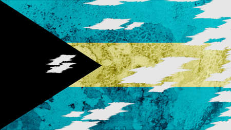 lacerate: bahamas Flag lacerate texture