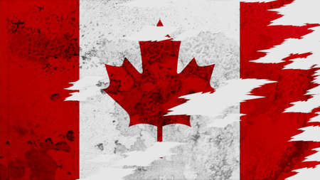 lacerate: canada Flag lacerate texture Stock Photo