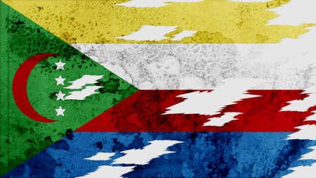 lacerate: comoros Flag lacerate texture