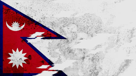 clime: nepal Flag lacerate texture Stock Photo