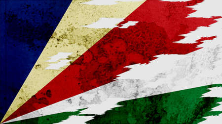 lacerate: seychelles Flag lacerate texture
