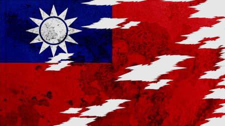 lacerate: taiwan Flag lacerate texture