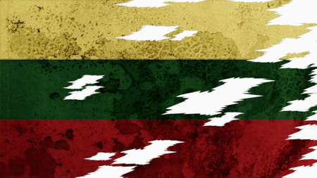 lacerate: lithuania flag lacerate old texture with seam