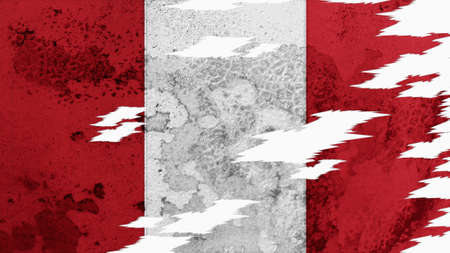 lacerate: peru flag lacerate old texture with seam