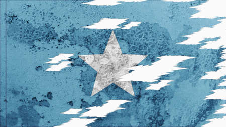 lacerate: somalia flag lacerate old texture with seam Stock Photo