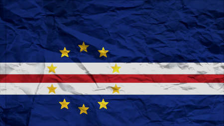 clime: cape verde flag paper texture with seam