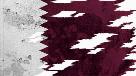 lacerate: qatar flag lacerate old texture with seam