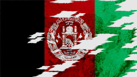 lacerate: afghanistan flag lacerate old texture with seam