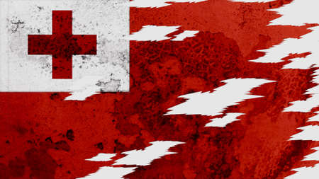 lacerate: tonga flag lacerate old texture with seam