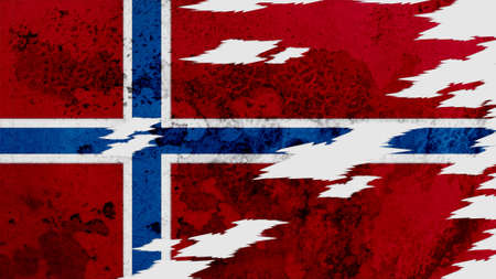 lacerate: norway flag lacerate old texture with seam