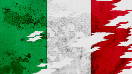 lacerate: italy flag lacerate old texture with seam
