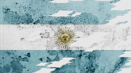 lacerate: argentina flag lacerate old texture with seam Stock Photo