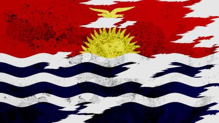 lacerate: Kiribati flag lacerate texture