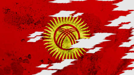 lacerate: Kyrgyzstan flag lacerate texture