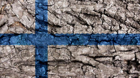 bandera de finlandia: Bandera de finlandia textura �spera Foto de archivo